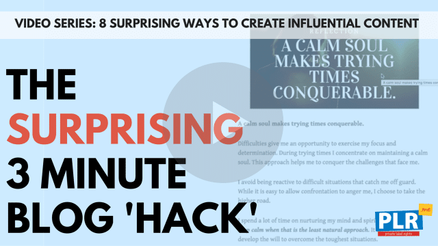 The Surprising 3 Minute Blog 'Hack' to Get Traffic and Attract Clients