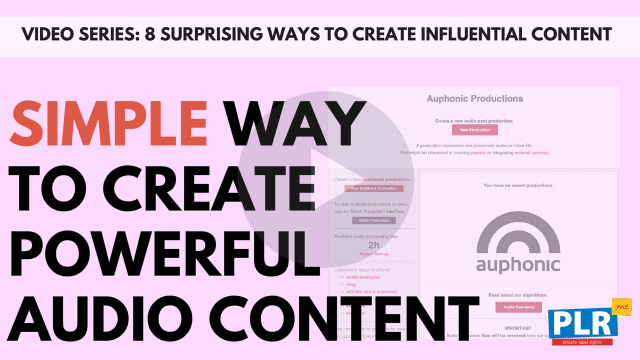 The Surprisingly Simple Way To Create Powerful Audio Content