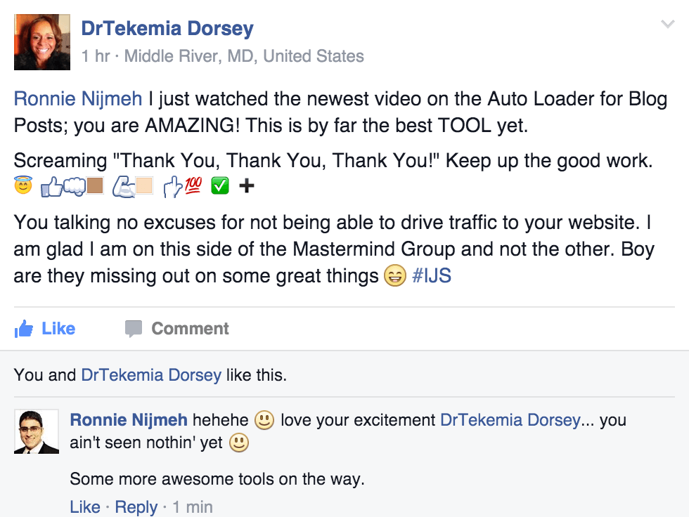 Testimonial about the Content Auto Loader