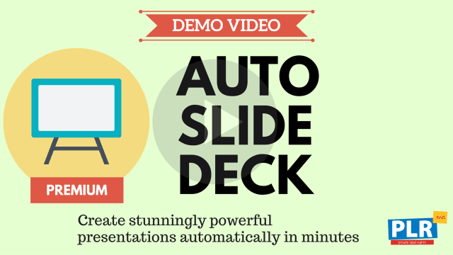 Auto Slide Deck: Create stunningly powerful presentations automatically in minutes