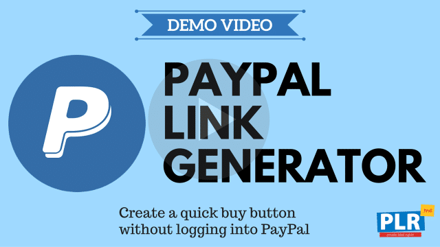 PayPal Link Generator: Create a quick buy button without logging into PayPal