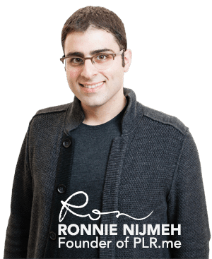 Ronnie Nijmeh, Founder of PLR.me
