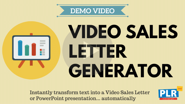 Video Sales Letter Generator: Instantly transform text into a Video Sales Letter or PowerPoint presentation... automatically